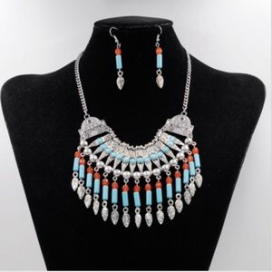 NEW! WOMEN'S BOHO BEADED TRIBAL NECKLACE